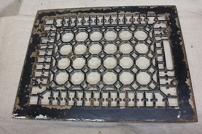 "old Heat Air Grate only register 13 3/4 x 10 3/4"" octagons vintage rustic iron"