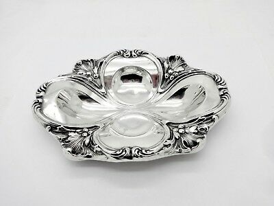 Fabulous Antique Unger Bros Fancy Floral Design Sterling Silver Bonbon Bowl,7""