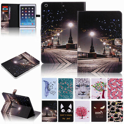 For iPad 9.7 Inch 6th 5th Generation Leather Wallet Card Pocket Folio Case Cover