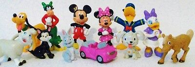 *MINNIE MOUSE 12 Figure Set MICKEY CLUBHOUSE Disney PVC TOY CAKE TOPPER Daisy!*