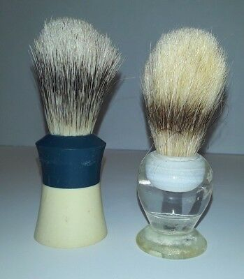 (J) Vintage Ever Ready No. 200T Shaving Brush & Clear Handle  Lot of 2