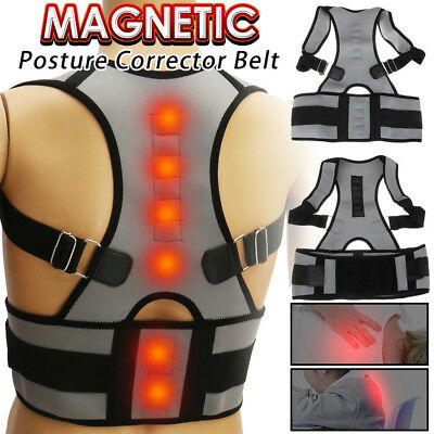 Adjustable Therapy Posture Corrector Magnetic Shoulder Support Lumber Brace C509