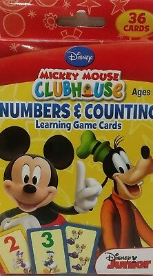 DISNEY Mickey Mouse Clubhouse Numbers /& Counting 36 Cards NIB Ages 3+