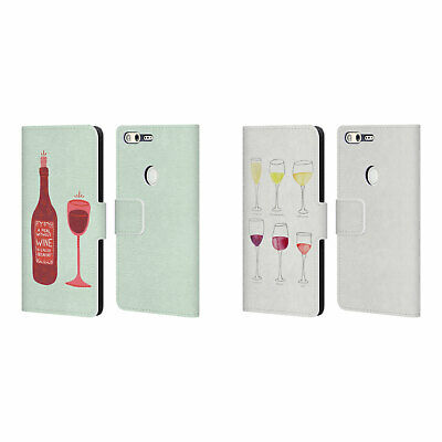 Official Cat Coquillette Wine Leather Book Wallet Case For Google Phones