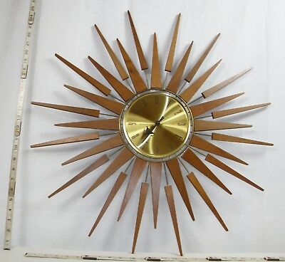 Seth Thomas Star Flower Modern Design Wall Clock Atomic Age Works Stunning!
