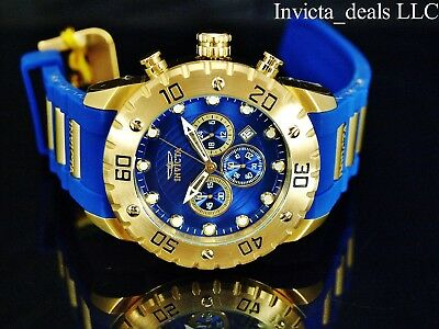 Invicta Men's 50mm Pro Diver Chronograph Sapphire Blue Tone Blue Dial SS Watch