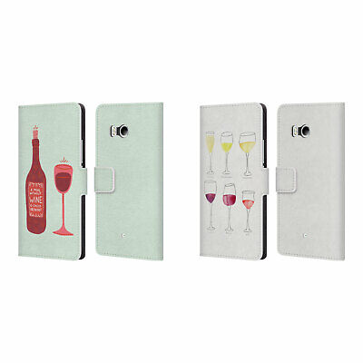 Official Cat Coquillette Wine Leather Book Wallet Case For Htc Phones 1