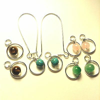 50 Silver Plated Kidney Interchangeable Ear Wire Earrings Hooks 16x8mm