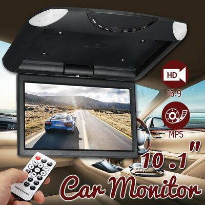 """10.1"""" LCD Car Flip Down Monitor TFT USB MP5 Player Roof Mounted Drop Overhead"""