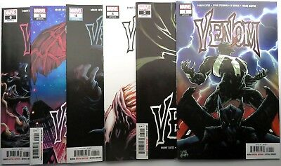 VENOM 2018 (6) comic run #1 2 3 4 5 6 Marvel 1st print SET Stegman Cates Knull