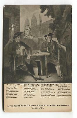 The Greenwich Pensioner - early London postcard, local publisher