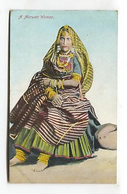 A Marwari Woman - old India postcard