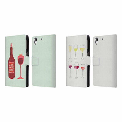Official Cat Coquillette Wine Leather Book Wallet Case For Htc Phones 2