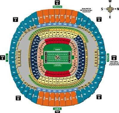 6 Tickets Falcons at New Orleans Saints *QUICK SELL**