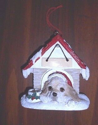 Dogs...NEW magnet / Christmas ORNAMENT  *COCKER SPANIEL*  in Dog House 35355-78a
