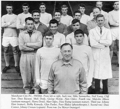 Manchester City Football Team Photo>1965-66 Season