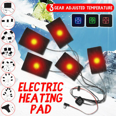 USB Electric Clothes Heating Pads Thermal Vest Heated Adjustable Winter Warmer