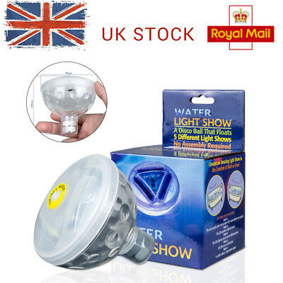 Floating Underwater LED Light Show Bath SPA Tub Swimming Disco Party Light New