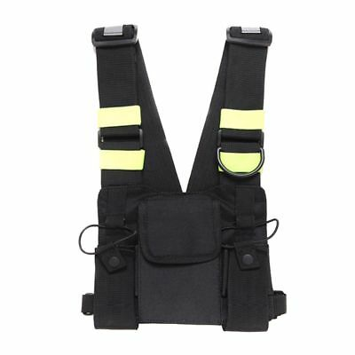 Pouch Holster Vest Radio Chest Harness Chest Front Pack Rig for Two Way Radio