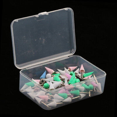 100PCS Screw on Type Disposable Dental Prophy Cup Brushes Pointed Polisher