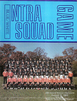 1985-8-3 NFL Football Program- Chicago Bears Intra Squad Game