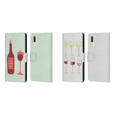 Official Cat Coquillette Wine Leather Book Wallet Case For Huawei Phones