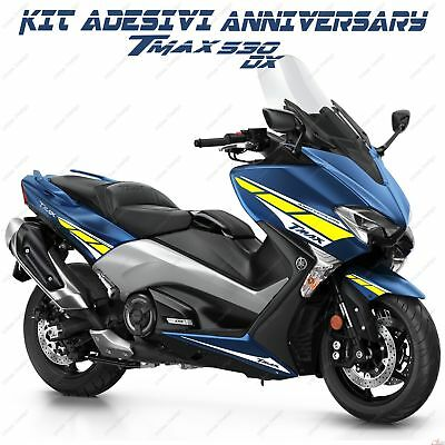 Stickers Anniversary Compatible Yamaha Tmax T-Max 530 R L Bianco Yellow 2017