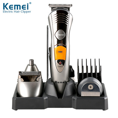 KM-580A 7 in 1 Rechargeable Hair Beard Nose Cut Clipper Shaver Trimmer Pro Set