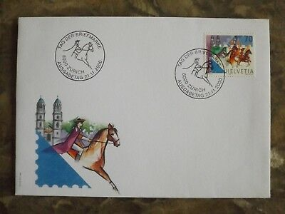 Switzerland 2000 First Day Cover : Stamp Day 21.11.2000 : Helvetia FDC