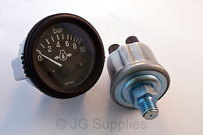 "CLASSIC CAR 12v electrical oil pressure gauge & sender 0-10 bar 1/8"" NPTF 160700"