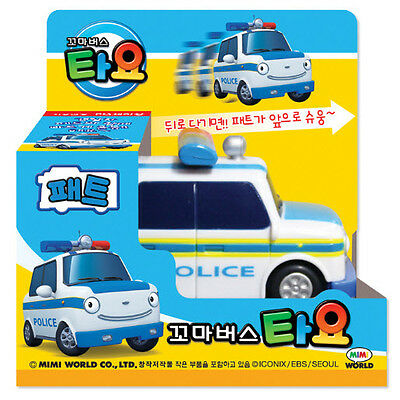 The Little Bus Tayo Police Pat Diecast Toy Car Anime Cartoon Kid Baby Toy