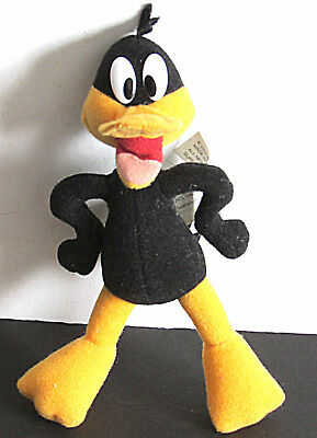 "Plush DAFFY DUCK figure by Mattel Warner Bros 2003 7"" FREE SH"