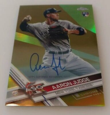 2017 TOPPS CHROME Update, Aaron Judge RC HMT40, Pack of 10