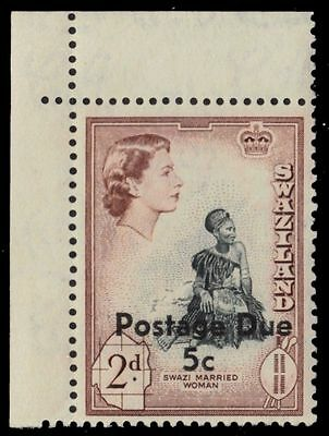 """SWAZILAND J6a (SG D12) - Swazi Woman """"Postage Due"""" Type II (pa83967)"""