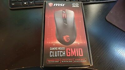 00df5ea3150 MSI CLUTCH GM10 Optical Red LED Gaming Mouse NEW NEVER USED - £12.99 ...