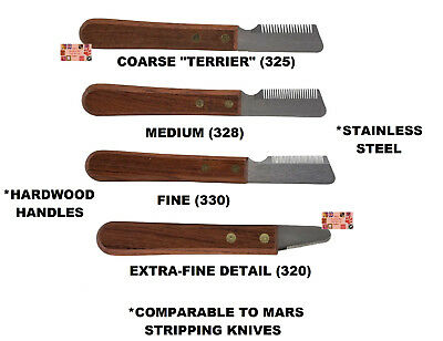PRO DOG COAT STRIPPING KNIFE Hair Stripper Carding Carder Knives*COMPARE TO MARS