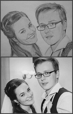 Pencil drawing Portrait A4 From Photo