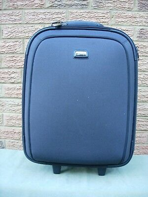 STRADA Grey Telescopic Handle Cabin Sized Wheeled Soft Suitcase