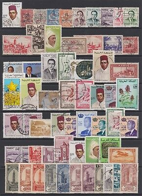 MOROCCO - Selection of mint & used stamps on page, just as scan - Ref F263