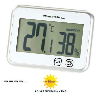 Raumthermometer: Digitales Thermometer & Hygrometer mit Minimum / Maximum, Touch