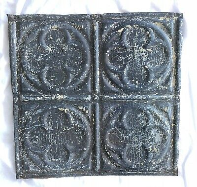 1890's 12 x 12 Antique Tin Ceiling Tile Bare Metal Reclaimed Anniversary 540-18