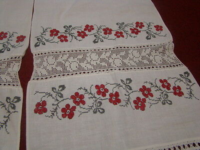 Vintage Ukrainian embroidered  rushnyk  Cherkasy  region #675-