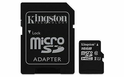 Kingston 16GB Canvas Select Micro SD Card with SD Adapter, Class 10