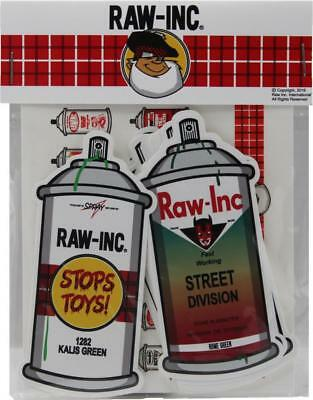 Raw Inc. spray Can Sticker Pack