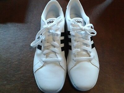 ea6c472d7ad8 KIDS YOUTH ADIDAS BASELINE White+Gold Fashion Sneakers Shoes CG5844 ...