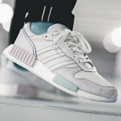 f5c67a366 ADIDAS NMD R1 Triple White Monochrome Boost Size 10 Used Reflective ...
