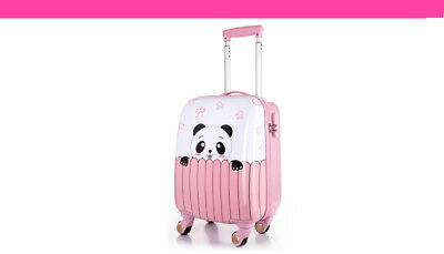 A843 Cartoon Panda Universal Wheel ABS+PC Children Suitcase Luggage 18 Inches W