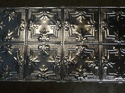 12-10 Victorian Design (10) TEN 2' x 4' Tin Plated Steel Sheets. WoW!