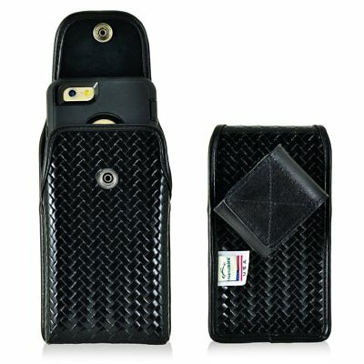 Genuine Leather Police Tall Case fits Kyocera DuraForce PRO 2