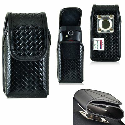 Genuine Leather Police Basket Weave Case fits all Samsung Rugby or Convoy Phones
